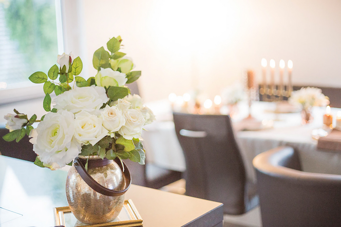 White Blooms from a Louis Vuitton Themed Party on Kara's Party Ideas | KarasPartyIdeas.com (9)