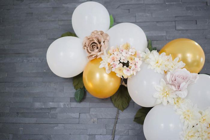 Balloon Installation from a Louis Vuitton Themed Party on Kara's Party Ideas | KarasPartyIdeas.com (5)