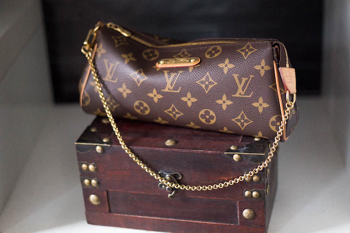 LV Bag Decoration from a Louis Vuitton Themed Party on Kara's Party Ideas | KarasPartyIdeas.com (22)