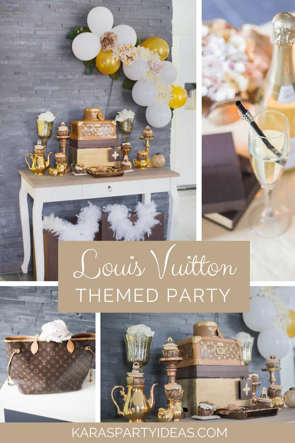Louis Vuitton Themed Party via Kara's Party Ideas - KarasPartyIdeas.com