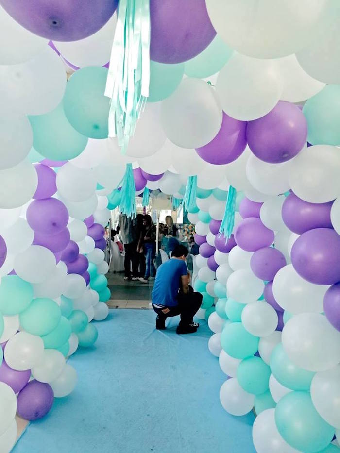 Balloon Arch Walkway from a Magical Mermaid Birthday Party on Kara's Party Ideas | KarasPartyIdeas.com (21)