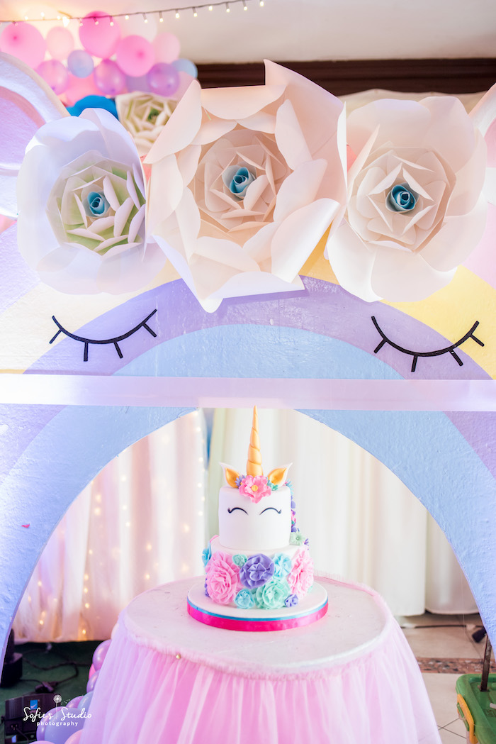 Magical Unicorn Birthday Party Inspired Dessert Table