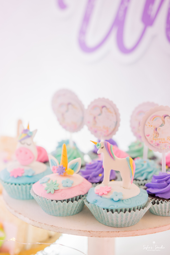 Unicorn Cupcakes from a Magical Unicorn Birthday Party on Kara's Party Ideas | KarasPartyIdeas.com (18)