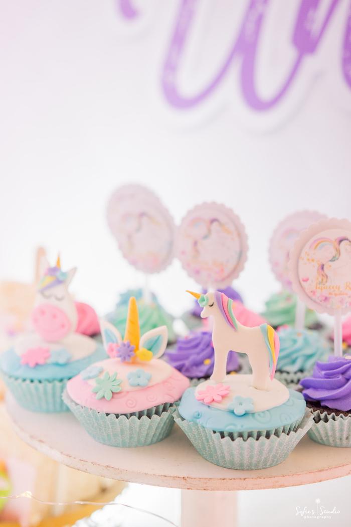 a5d02615e Unicorn Cupcakes from a Magical Unicorn Birthday Party on Kara's Party Ideas  | KarasPartyIdeas.com