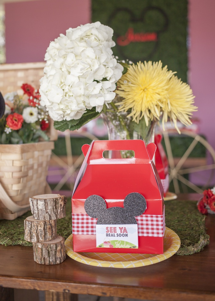 Table Setting from a Mickey Mouse Picnic Party on Kara's Party Ideas | KarasPartyIdeas.com (9)
