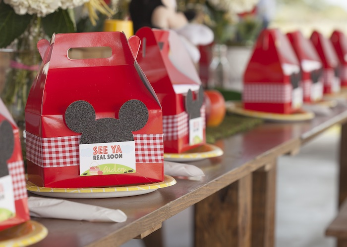 Table Setting from a Mickey Mouse Picnic Party on Kara's Party Ideas | KarasPartyIdeas.com (8)