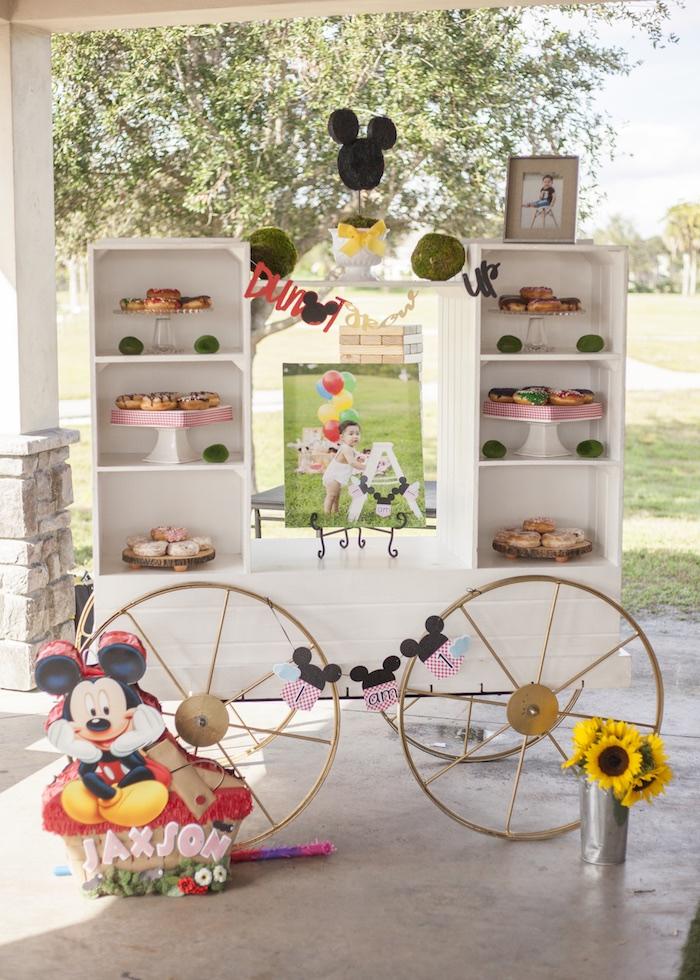 Doughnut Wagon from a Mickey Mouse Picnic Party on Kara's Party Ideas | KarasPartyIdeas.com (5)