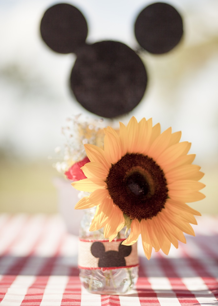 Sunflower from a Mickey Mouse Picnic Party on Kara's Party Ideas | KarasPartyIdeas.com (24)