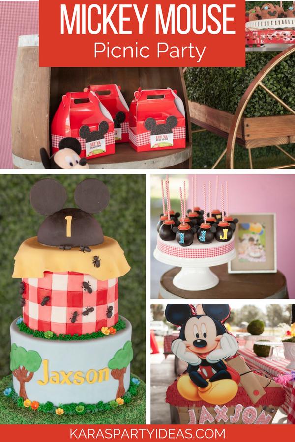 Mickey Mouse Picnic Party via Kara's Party Ideas - KarasPartyIdeas.com