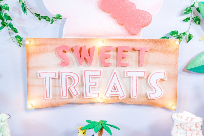 Sweet Treats Sign from a Minnie Mouse Safari Birthday Party on Kara's Party Ideas | KarasPartyIdeas.com (11)