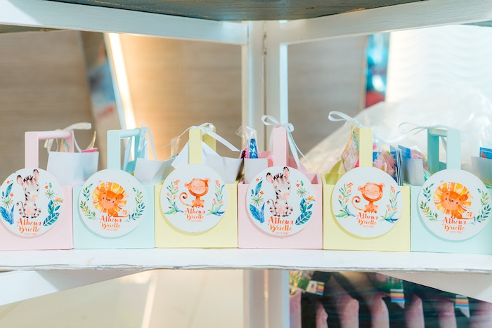 Favor Boxes from a Minnie Mouse Safari Birthday Party on Kara's Party Ideas | KarasPartyIdeas.com (4)