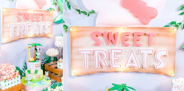 Minnie Mouse Safari Birthday Party on Kara's Party Ideas | KarasPartyIdeas.com (3)