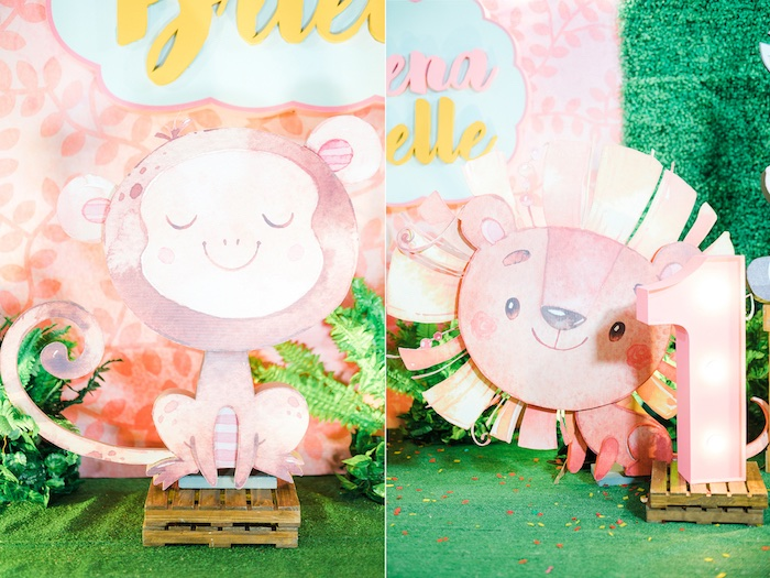 Safari Standees + Signage from a Minnie Mouse Safari Birthday Party on Kara's Party Ideas | KarasPartyIdeas.com (24)