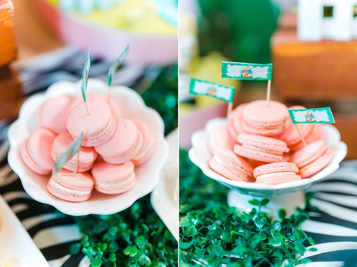Light Pink Macarons from a Minnie Mouse Safari Birthday Party on Kara's Party Ideas | KarasPartyIdeas.com (21)