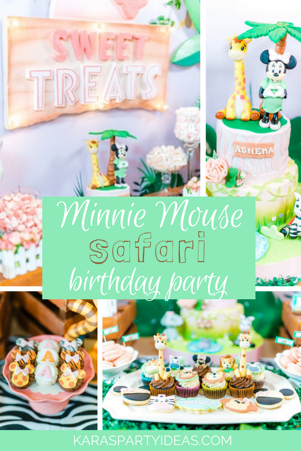 Minnie Mouse Safari Birthday Party via Kara's Party Ideas - KarasPartyIdeas.com