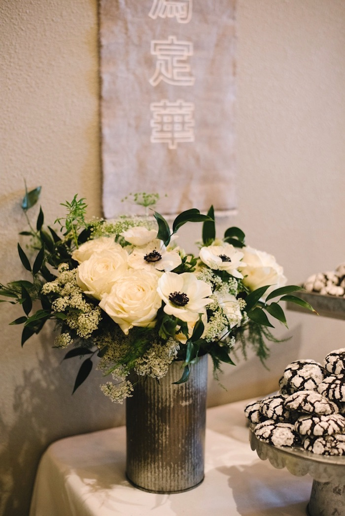 Black & White Blooms from a Modern Industrial Birthday Party on Kara's Party Ideas | KarasPartyIdeas.com (9)