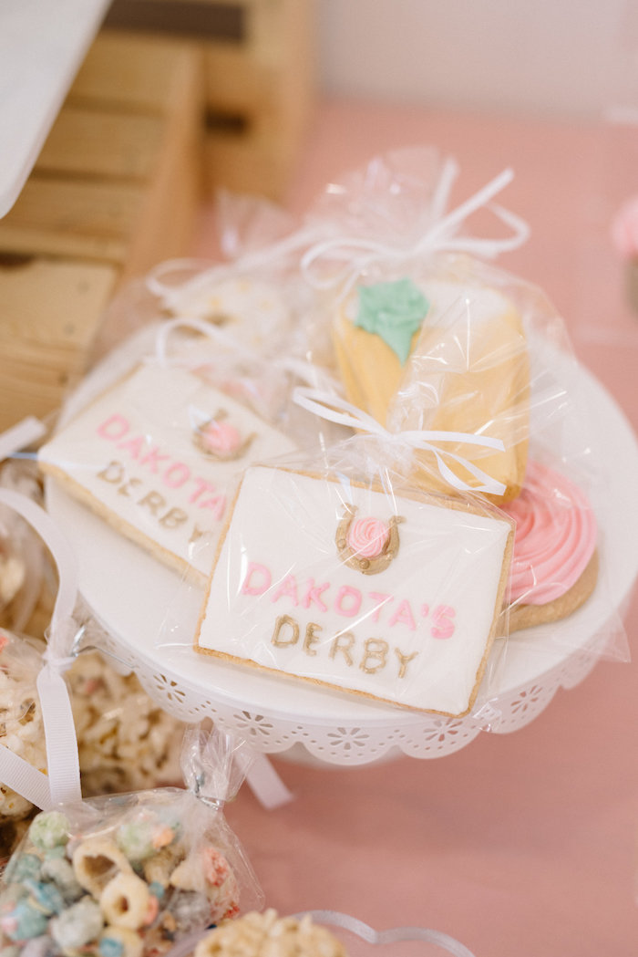 Kentucky Derby Cookies from a Pastel Kentucky Derby Inspired Birthday Party on Kara's Party Ideas | KarasPartyIdeas.com (12)