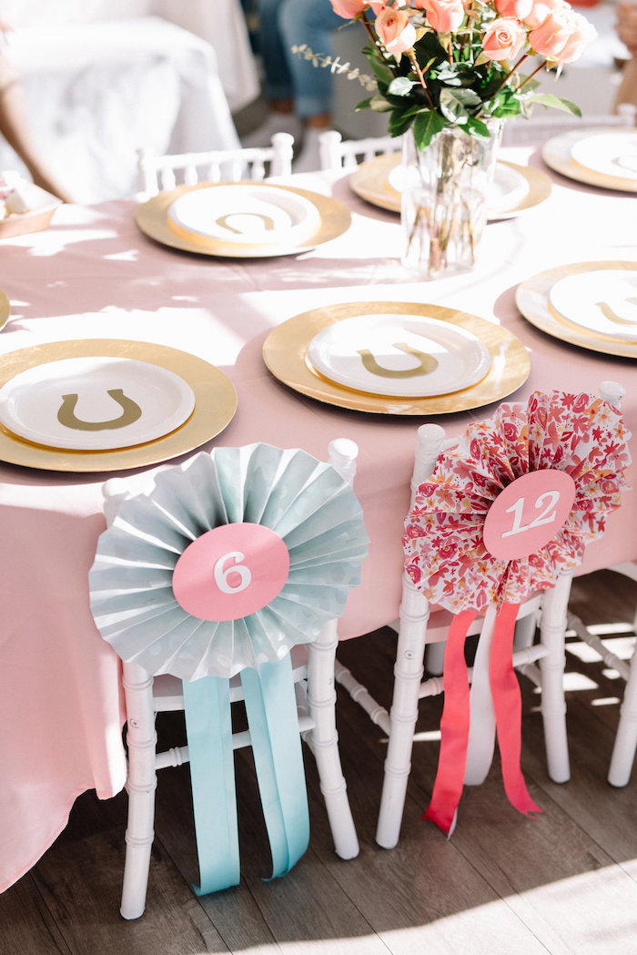 Kentucky Derby Guest Table from a Pastel Kentucky Derby Inspired Birthday Party on Kara's Party Ideas | KarasPartyIdeas.com (9)