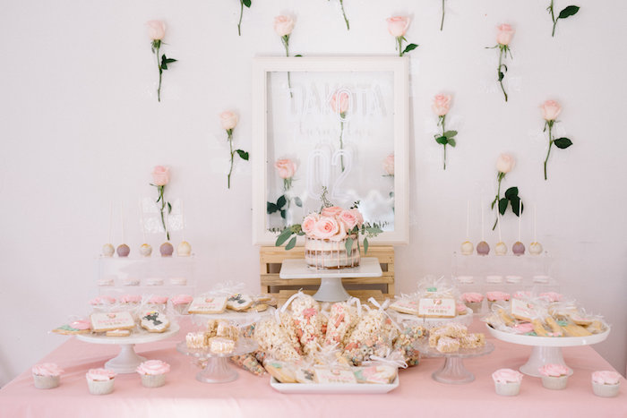 Dessert Table from a Pastel Kentucky Derby Inspired Birthday Party on Kara's Party Ideas | KarasPartyIdeas.com (8)