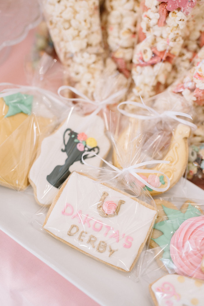 Kentucky Derby-inspired Cookies from a Pastel Kentucky Derby Inspired Birthday Party on Kara's Party Ideas | KarasPartyIdeas.com (5)