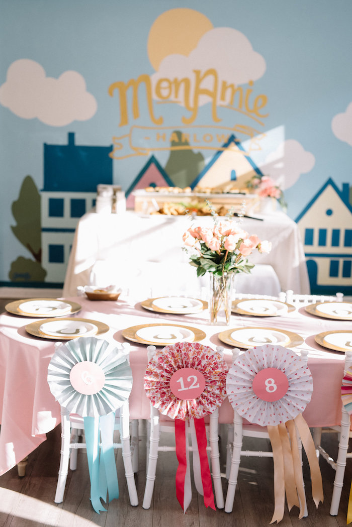 Kentucky Derby Guest Table from a Pastel Kentucky Derby Inspired Birthday Party on Kara's Party Ideas | KarasPartyIdeas.com (3)