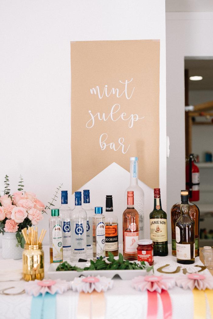 Mint Julep Bar from a Pastel Kentucky Derby Inspired Birthday Party on Kara's Party Ideas   KarasPartyIdeas.com (21)