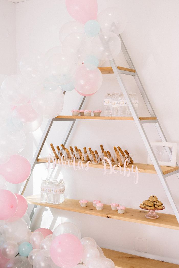 Triangle Dessert Shelf from a Pastel Kentucky Derby Inspired Birthday Party on Kara's Party Ideas   KarasPartyIdeas.com (20)