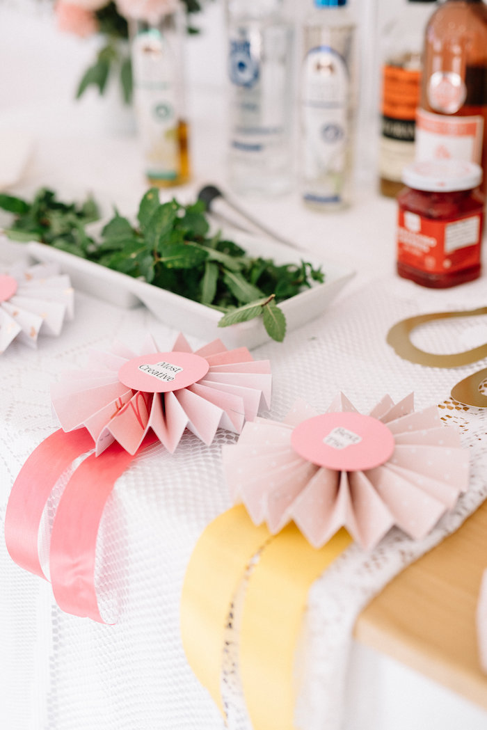 Ribbon Decor from a Pastel Kentucky Derby Inspired Birthday Party on Kara's Party Ideas | KarasPartyIdeas.com (13)