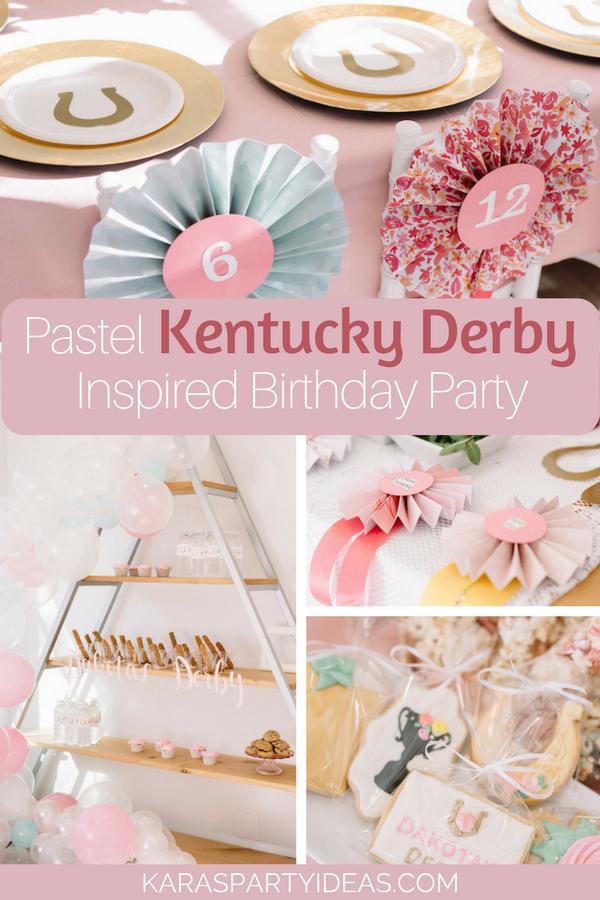 Pastel Kentucky Derby Inspired Birthday Party via Kara's Party Ideas - KarasPartyIdeas.com