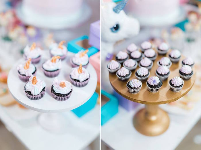 Cupcakes from a Pastel Unicorn Birthday Party on Kara's Party Ideas | KarasPartyIdeas.com (13)