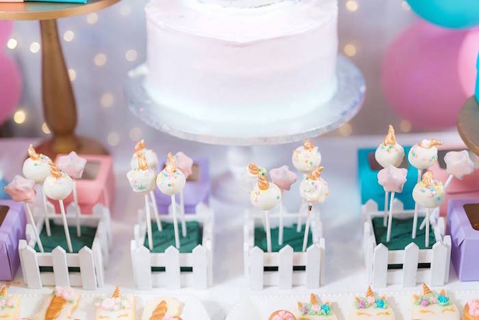 Unicorn Cake Pops from a Pastel Unicorn Birthday Party on Kara's Party Ideas | KarasPartyIdeas.com (26)