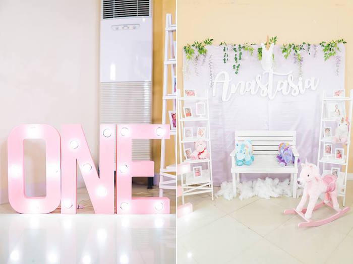 Photo Booth from a Pastel Unicorn Birthday Party on Kara's Party Ideas | KarasPartyIdeas.com (24)