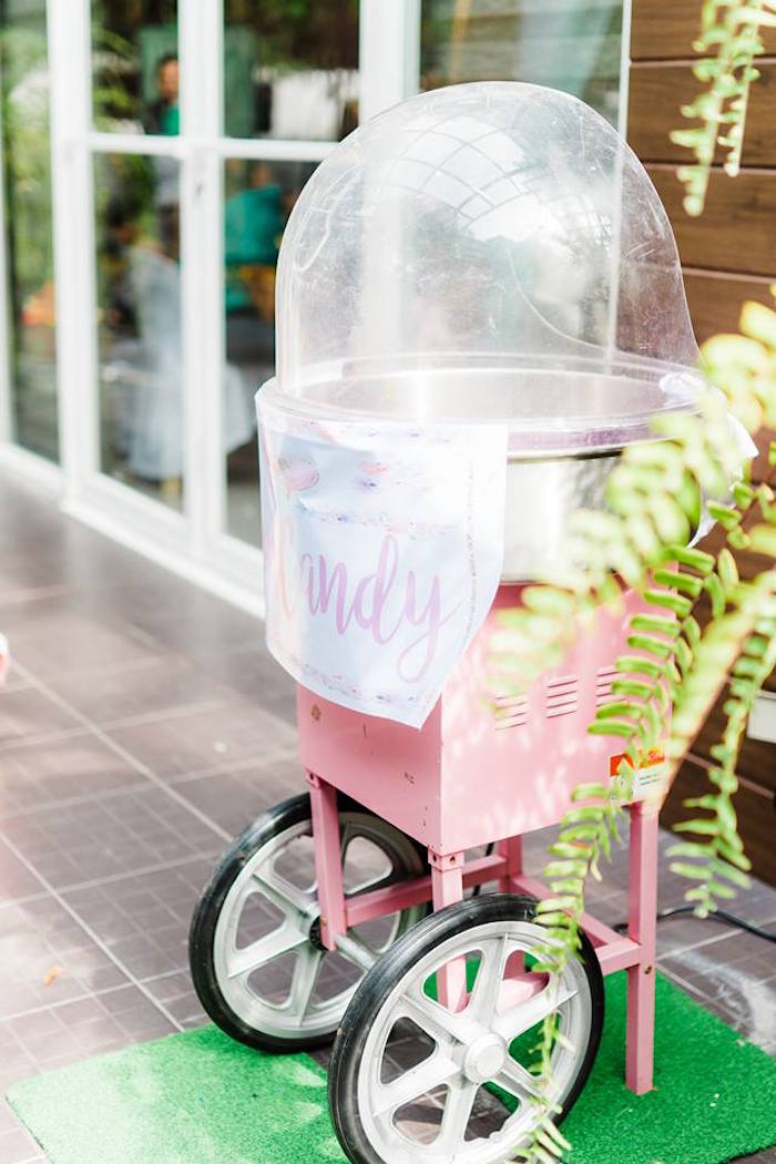 Cotton Candy Machine from a Pastel Unicorn Birthday Party on Kara's Party Ideas | KarasPartyIdeas.com (22)