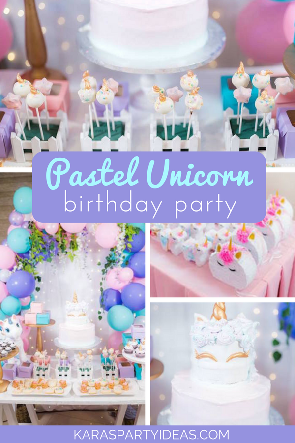 Pastel Unicorn Birthday Party via Kara's Party Ideas - KarasPartyIdeas.com