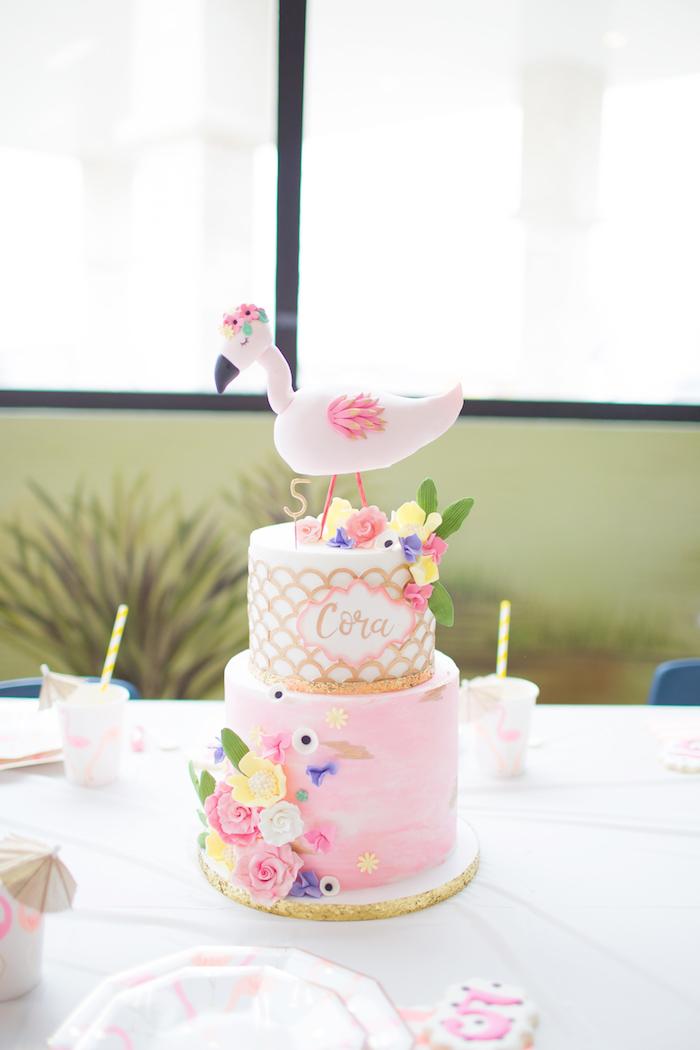 Pink Flamingo Birthday Party on Kara's Party Idea | KarasPartyIdeas.com (5)