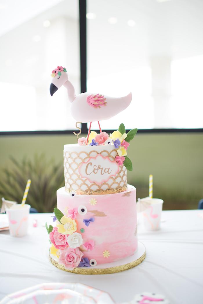Flamingo Cake from a Pink Flamingo Birthday Party on Kara's Party Idea | KarasPartyIdeas.com (4)
