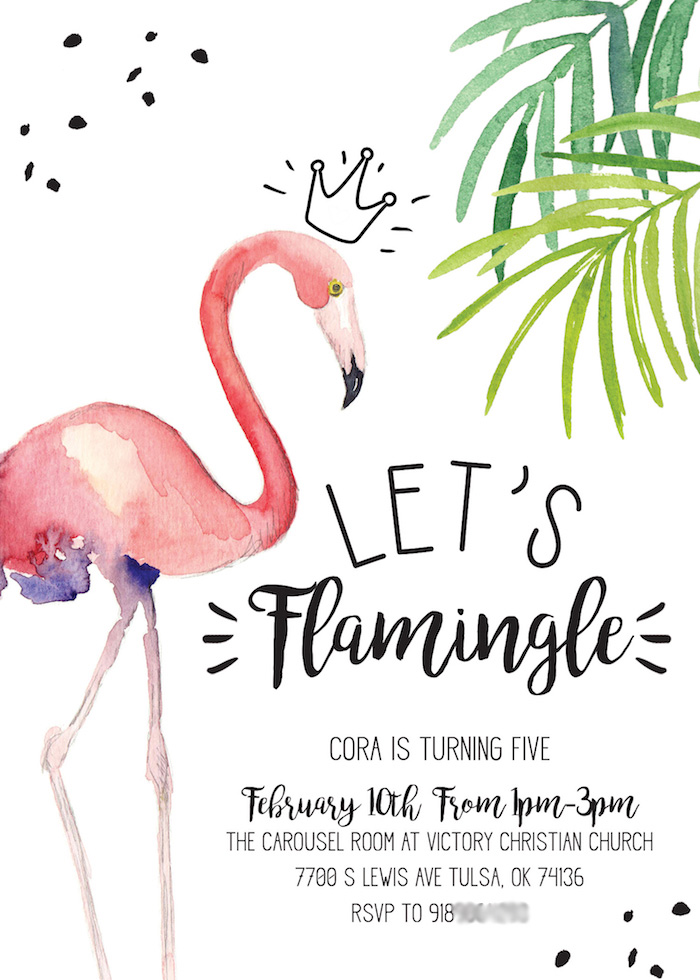 Let S Flamingle Flamingo Party Invite From A Ppink Birthday On Kara