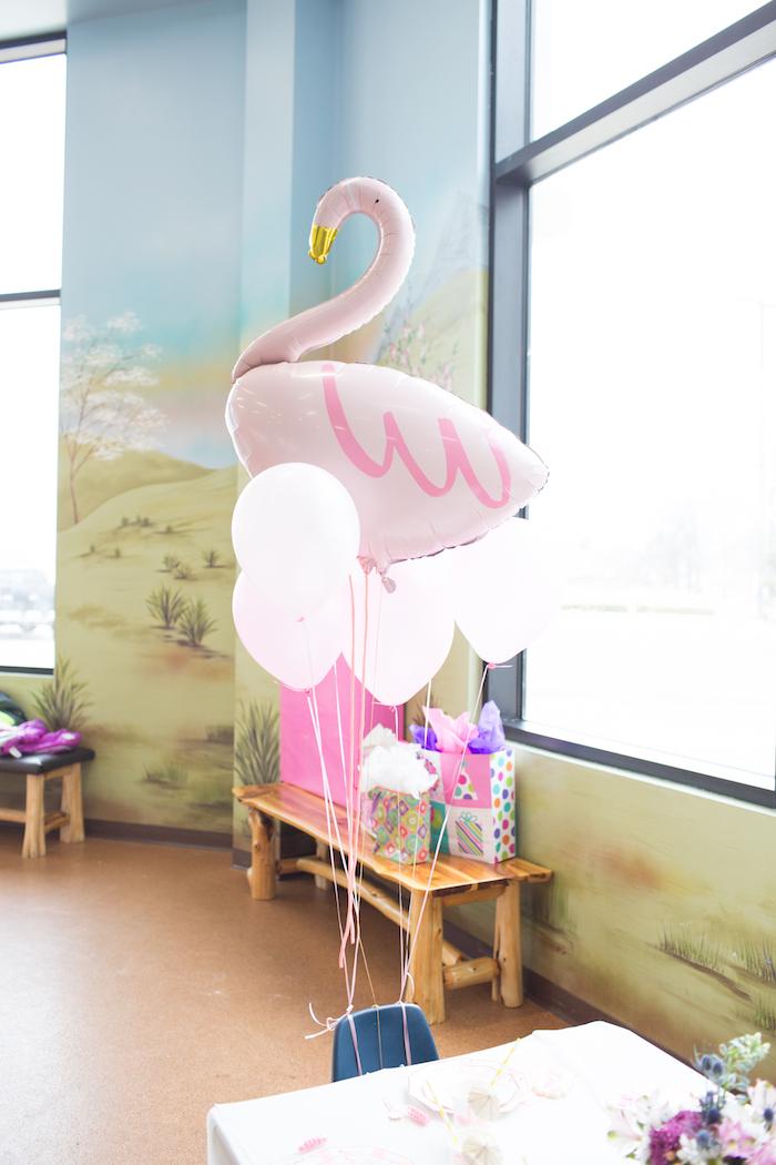 Flamingo Balloon from a Pink Flamingo Birthday Party on Kara's Party Idea | KarasPartyIdeas.com (12)