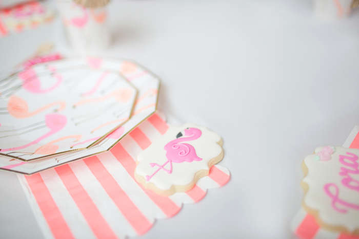 Flamingo Cookie from a Pink Flamingo Birthday Party on Kara's Party Idea | KarasPartyIdeas.com (9)
