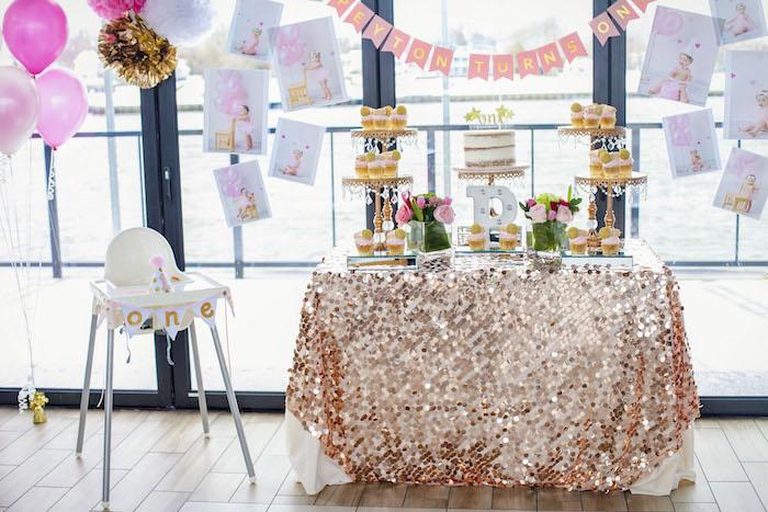Glam Rock Star Dessert Table from a Rock Star 1st Birthday Party on Kara's Party Ideas | KarasPartyIdeas.com (18)