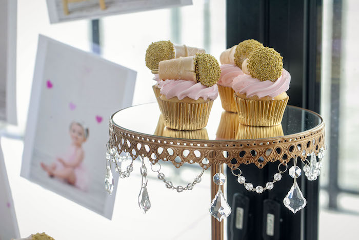 Glam Microphone Cupcakes from a Rock Star 1st Birthday Party on Kara's Party Ideas | KarasPartyIdeas.com (11)