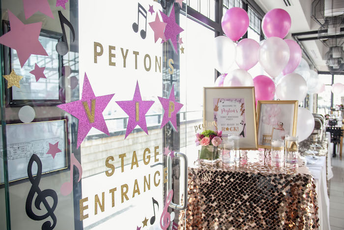 Signage from a Rock Star 1st Birthday Party on Kara's Party Ideas | KarasPartyIdeas.com (10)