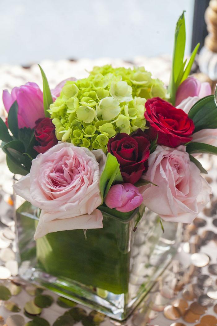 Floral Arrangement + Centerpiece from a Rock Star 1st Birthday Party on Kara's Party Ideas | KarasPartyIdeas.com (27)