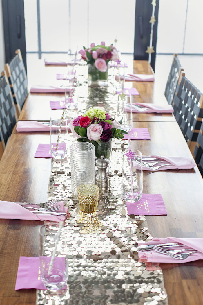Guest Tablescape from a Rock Star 1st Birthday Party on Kara's Party Ideas | KarasPartyIdeas.com (24)