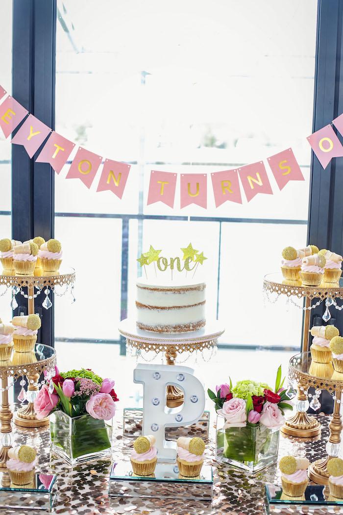 Sweet Table from a Rock Star 1st Birthday Party on Kara's Party Ideas | KarasPartyIdeas.com (23)
