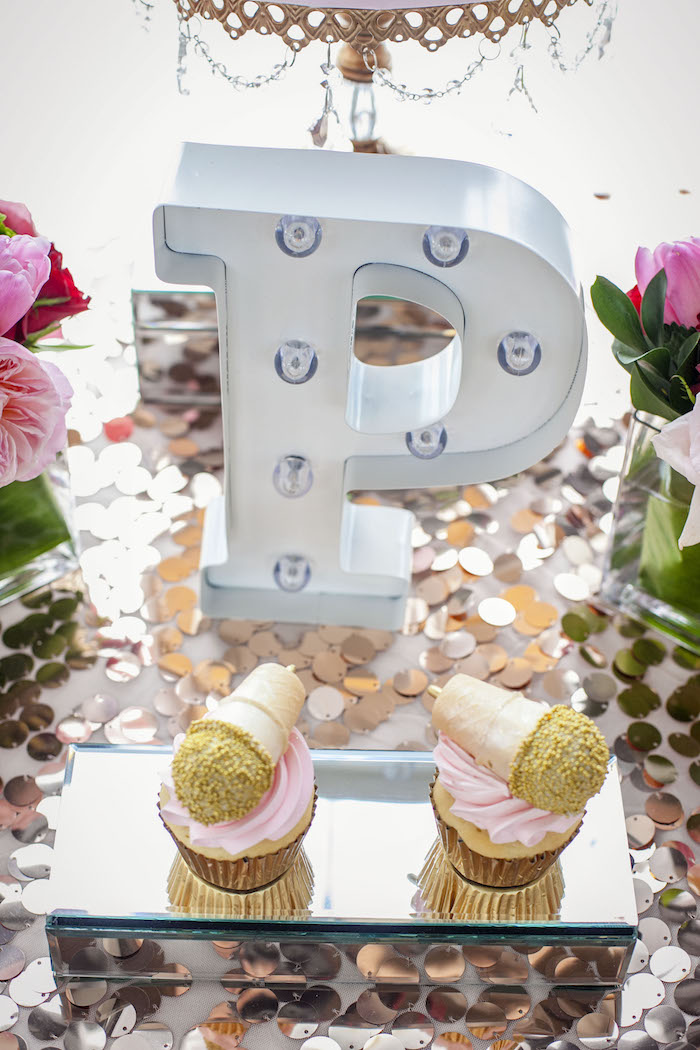 Marquee and cupcakes from a Rock Star 1st Birthday Party on Kara's Party Ideas | KarasPartyIdeas.com (22)