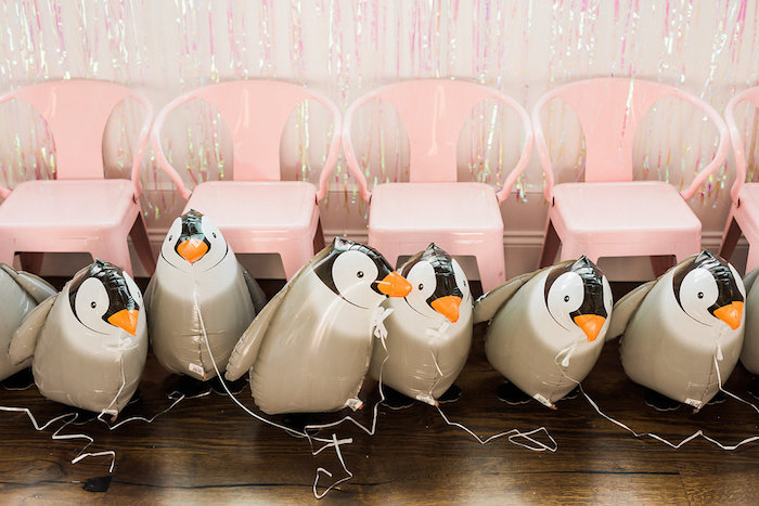 Penguin balloons from a Shimmery Winter Wonderland Party on Kara's Party Ideas | KarasPartyIdeas.com (21)
