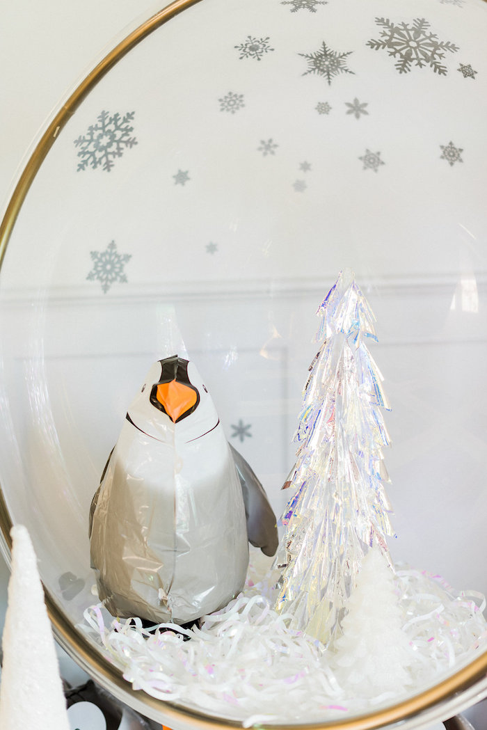 Penguin centerpiece from a Shimmery Winter Wonderland Party on Kara's Party Ideas | KarasPartyIdeas.com (19)