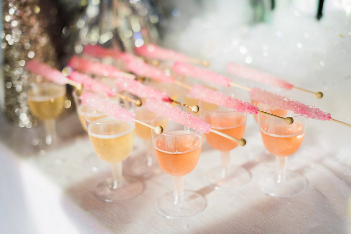 Drinks from a Shimmery Winter Wonderland Party on Kara's Party Ideas | KarasPartyIdeas.com (34)