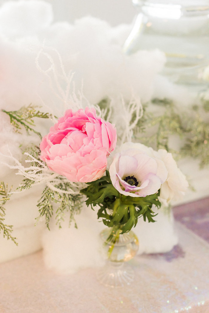 Blooms from a Shimmery Winter Wonderland Party on Kara's Party Ideas | KarasPartyIdeas.com (15)